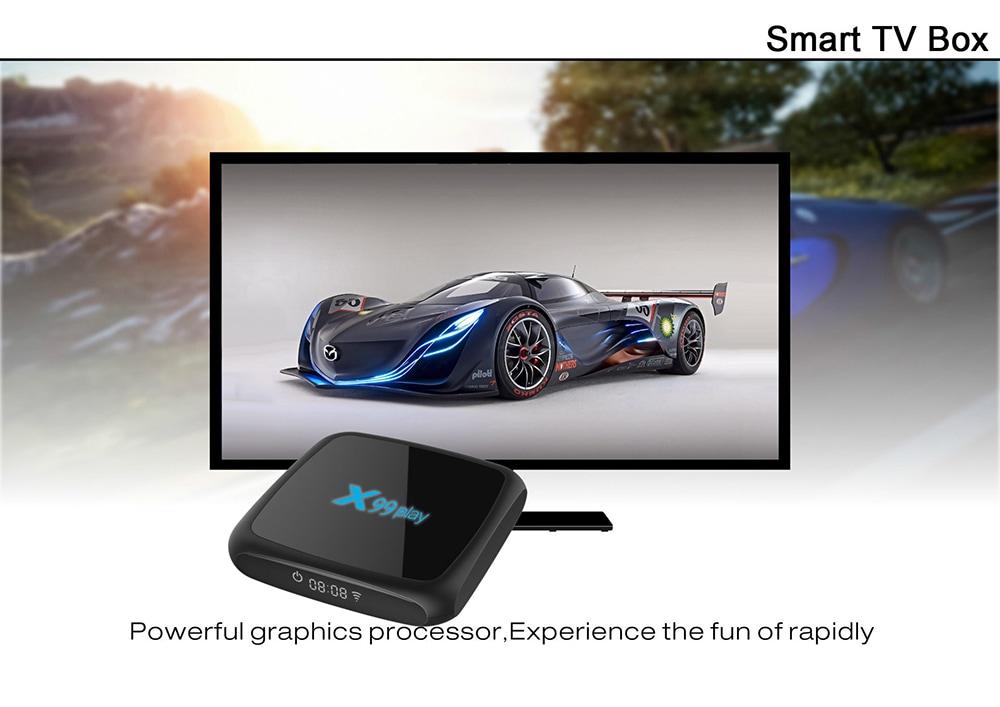 ТВ приставка X99 Play Android 9.0- Чёрный 4GB RAM + 32GB ROM UK Plug